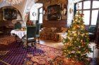 Vánočně vyzdobený interiér hradu a zámku ve Frýdlantu