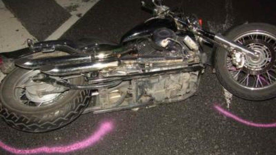 Dopravní nehoda motocyklu zn. Yamaha