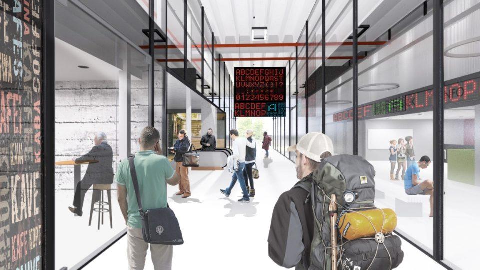 Návrh nového autobusového nádraží v Liberci od Petra Stolína