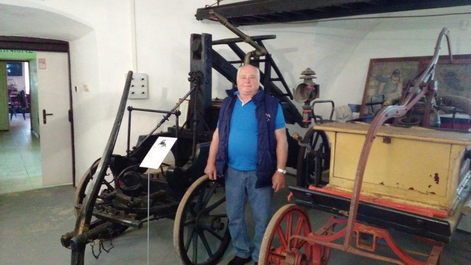 Duchovní otec hasičského muzea Miroslav Pivoňka