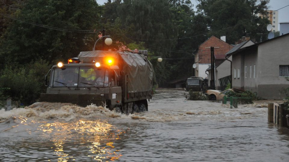 Povodně 2010 - Tovární ulice v Hrádku nad Nisou