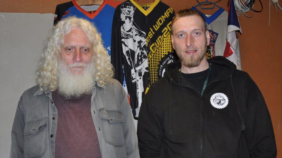 Správce areálu Vladislav Hlava a manažer DH FR Racing Tanvald Lukáš Černý
