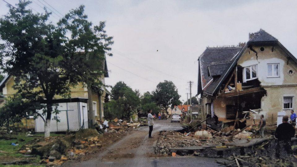 Heřmanice na Frýdlantsku po bleskové povodni v roce 2010