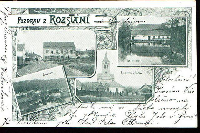 historie - pohlednice