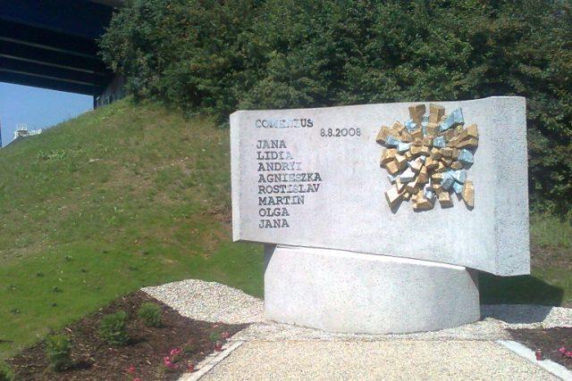 Památník vlakového neštěstí ve Studénce