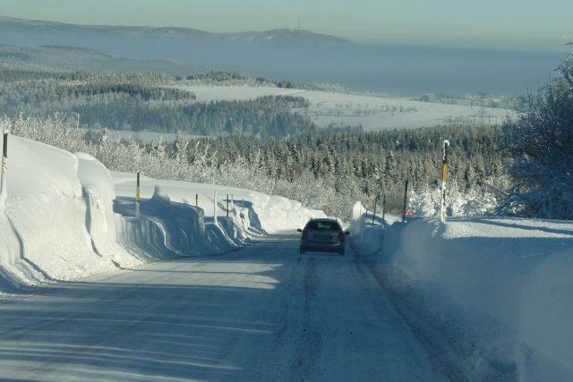 Zimní cesty v Krušných horách v okolí Výsluní - Rusová   foto: David Hertl,  Český rozhlas