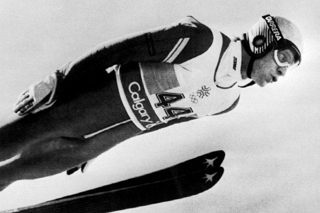 Čs.závodník Pavel Ploc obsadil v soutěži ve skocích na můstku P-90, obsadil páté místo