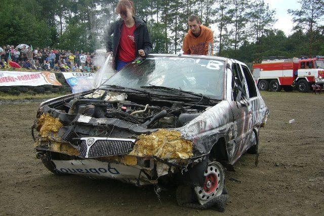 Jedno z divácky nejoblíbenějších aut po skončení jízdy | foto: Tomáš Mařas,  Český rozhlas