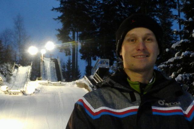 Bývalý reprezentant ve skocích,  teď trenér František Vaculík | foto: Tomáš Kohout,  Český rozhlas