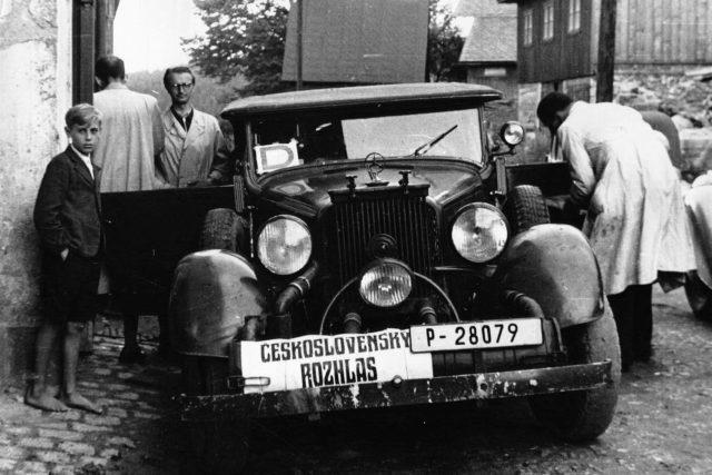 Návštěva Československého rozhlasu v Železném Brodu
