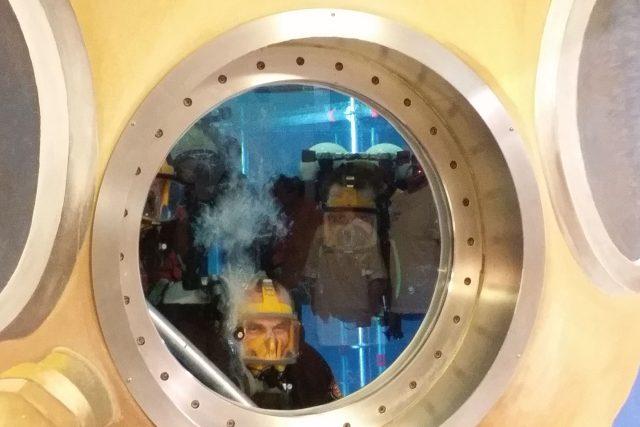 Potápěči v liberecké vodní věži | foto: Šárka Škapiková,  Český rozhlas