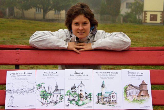 Vlastenecké omalovánky připravuje Blanka Kučerová z Vysokého nad Jizerou   foto: Jaroslav Hoření,  Český rozhlas
