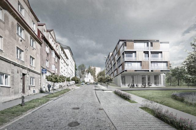 Návrh - vizualizace bytových domů nové čtvrti na libereckém Perštýně z roku 2016 | foto: Jiří Šolc