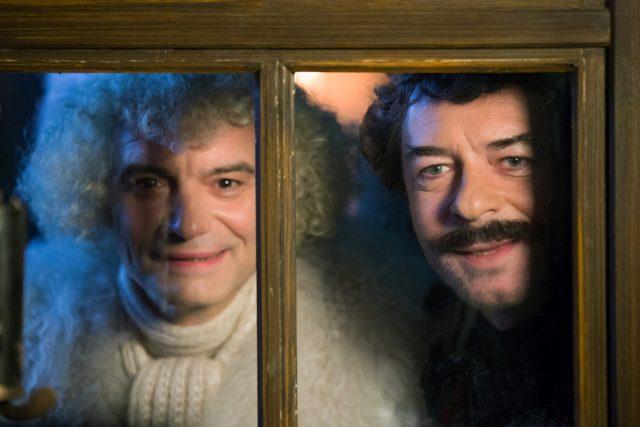 Ivan Trojan (vlevo) a Jiří Dvořák v pohádce Anděl Páně 2