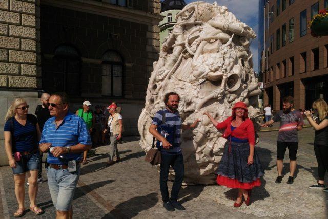 Nadšení i odpor - tak rozporuplné pocity budí v Liberci nová socha umělce Petra Zubka