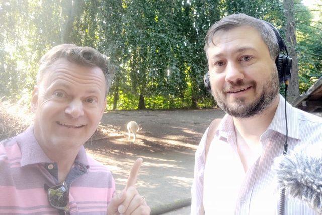 Petr Kumpfe (vlevo) a David Hamr se vydali do saských zoologických zahrad