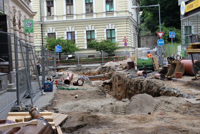 Opravy v centru Jablonce nad Nisou | foto: Magistrát města Jablonec nad Nisou