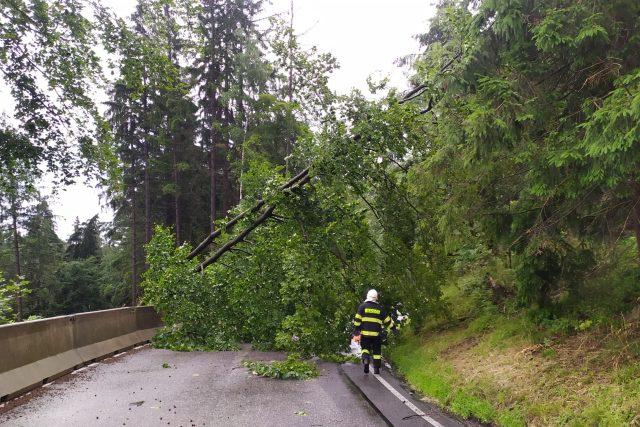 Po nedělních bouřkách zasahovali hasiči nejvíce na Železnobrodsku a Semilsku | foto: twitter HZS Libereckého kraje