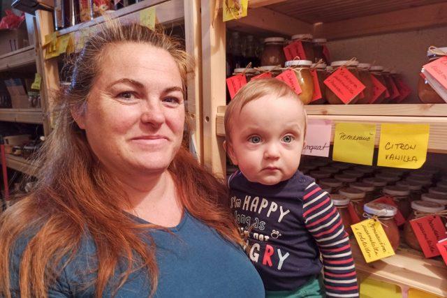 Michaela Bílková a s ročním synem Matějem
