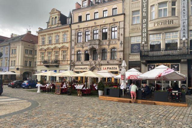 Kavárna na libereckém náměstí | foto: Jana Pšeničková,  Český rozhlas