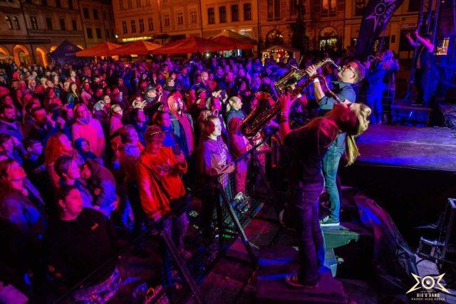 Big Band Jam 2019 na libereckém náměstí | foto: Aleš Kozák,  Big'O'Band Marka Ottla