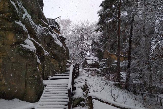 Rotštejn má své kouzlo i v zimě