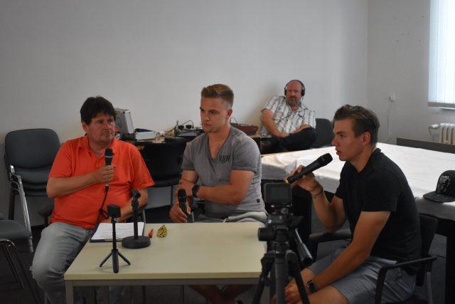 Zleva: Pavel Petr, Radan Lenc, Roman Will