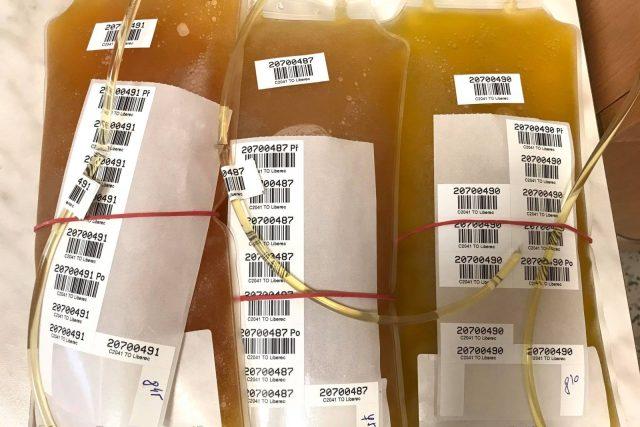 Odebraná krevní plazma