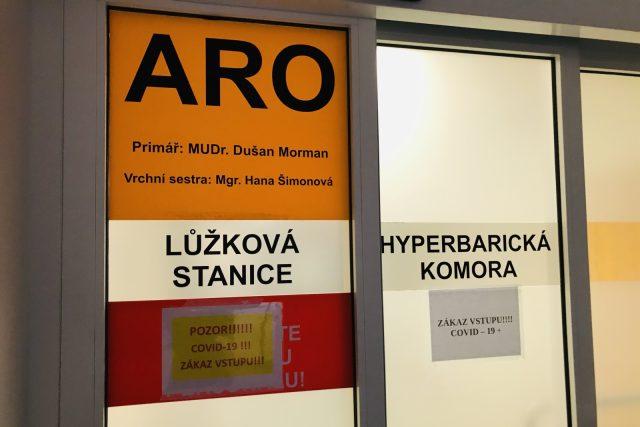 Oddělení ARO liberecké krajské nemocnice   foto: Lucie Fürstová,  Český rozhlas