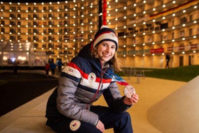 Na Světové olympiádě mládeže v Lausanne získala Štěpánka bronzovou medaili | foto: archiv Štěpánky Ptáčkové