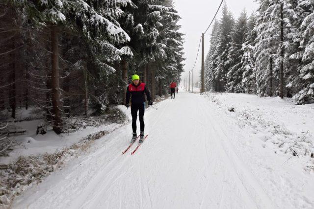 První lyžaři už vyjeli na Jizerskou magistrálu   foto: Šárka Škapiková,  Český rozhlas