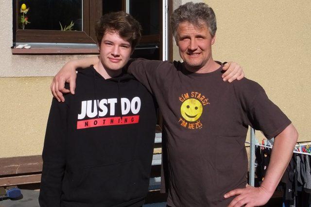 Syn a otec. Jan a Jaroslav Šimkovi
