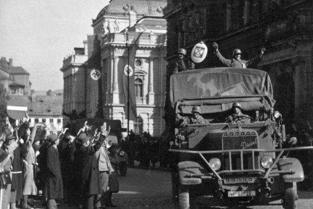 Návrat německé armády z Polska do Liberce, rok 1939