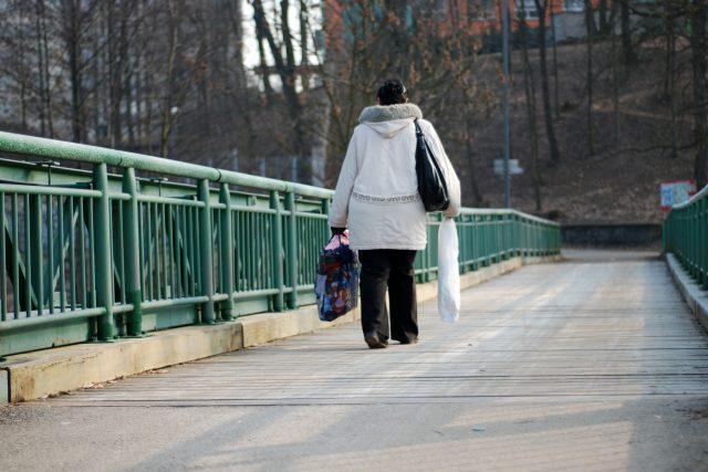 Most přes Chrudimku v Pardubicích