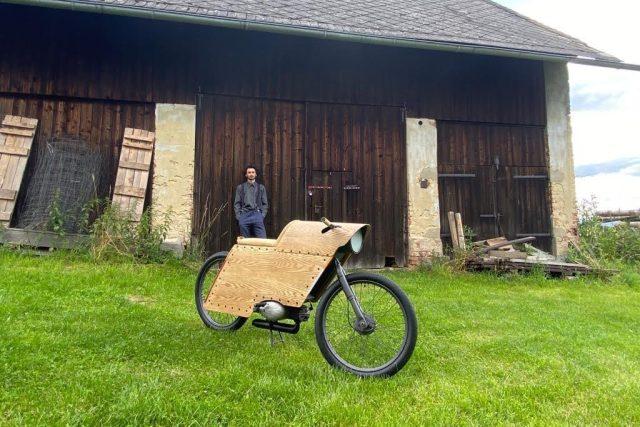 Roman Mareš a jeho netradičně zpracovaný design motocyklu