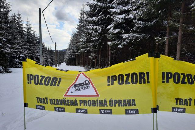 O úpravu běžeckých stop v Jizerských horách se stará obecně prospěšná společnost Jizerská | foto: Šárka Škapiková,  Český rozhlas