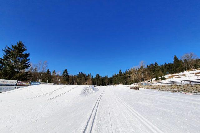 Běžkařské stopy jsou téměř prázdné. Podle horské služby v nich lyžují jen desítky místních | foto: Šárka Škapiková,  Český rozhlas