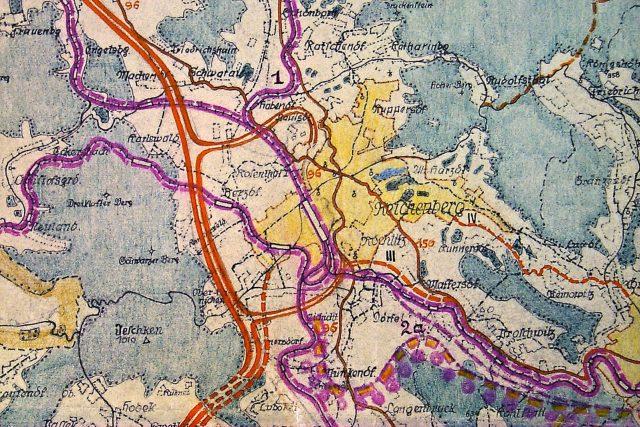 Plán plánovací kanceláře pro prostor Jizerských a Ještědských hor z roku 1941