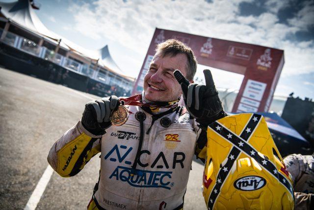 David Pabiška obsadil na Rally Dakar 2021 4. místo v kategorii malle moto   foto: Jantar Team