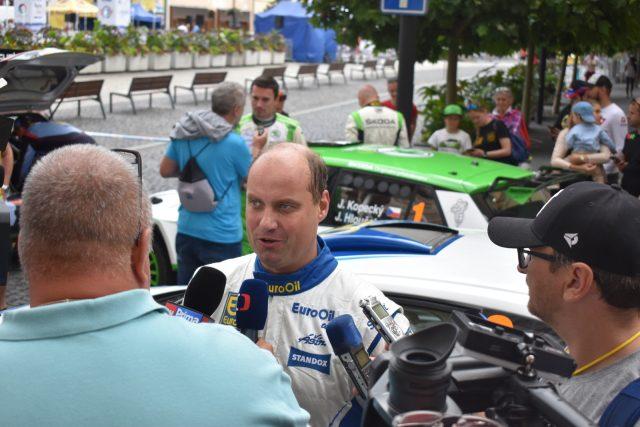 Vítěz letošní Rally Bohemia Václav Pech