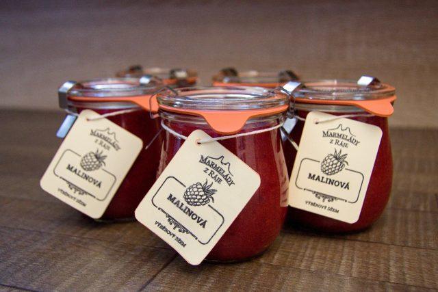 Malinová marmeláda z ráje má pomyslné stříbro