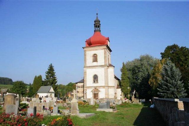 Kostel sv. Mikuláše z roku 1577 v Horní Branné   foto: OÚ Horní Branná