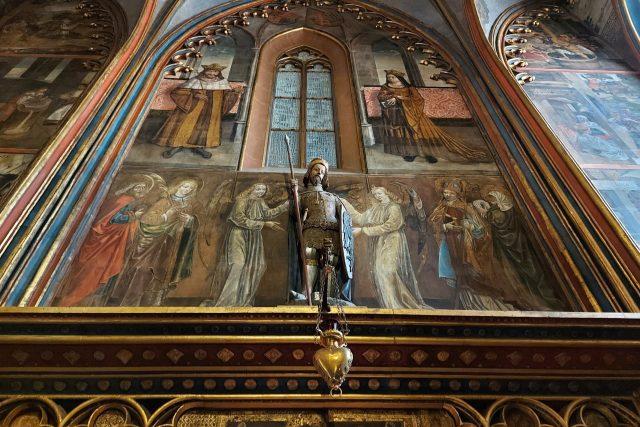 Socha sv. Václava ve Svatováclavské kapli | foto: Markéta Vejvodová,  Český rozhlas