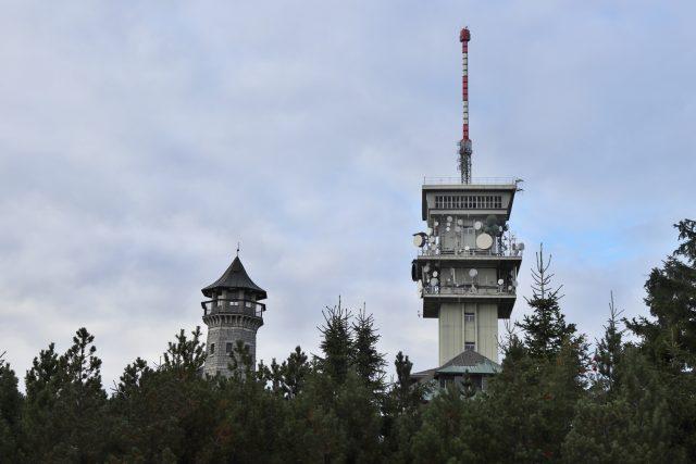 Rozhledna Klínovec a telekomunikační věž