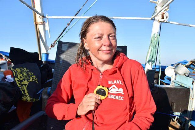 Plavkyně Markéta Pechová po přeplavání kanálu La Manche