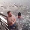 Otužilci v Harcovské přehradě